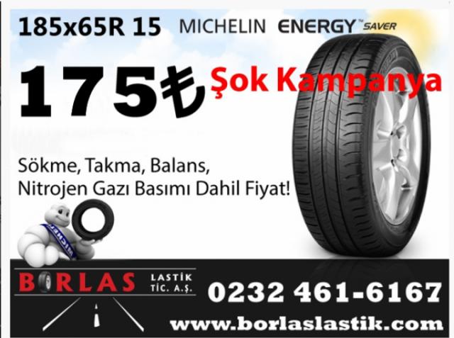 Şok Kampanya! Michelin Energy Saver 185/65R 15 88T Lastik 175 TL  (KAMPANYA BİTMİŞTİR)